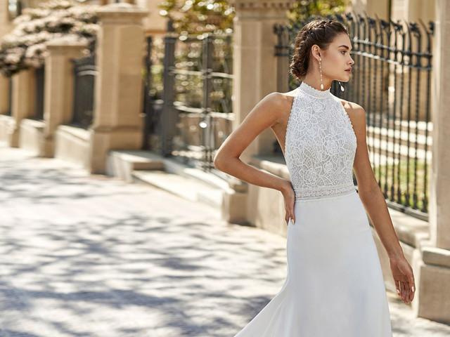 Vestidos de novia con escote halter