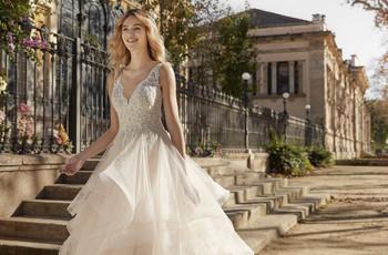 Vestidos de novia con volados: 15 modelos románticos