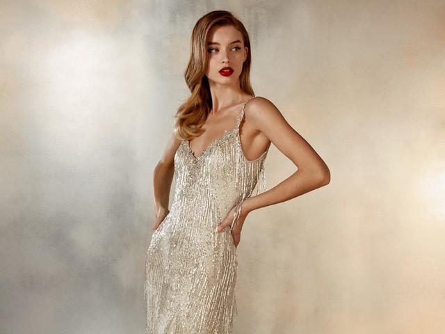 20 vestidos de novia con pedrería, ¡brillá con luz propia en tu gran día!
