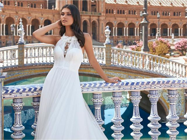 50 vestidos de novia corte en A: versatilidad y estilo para tu look