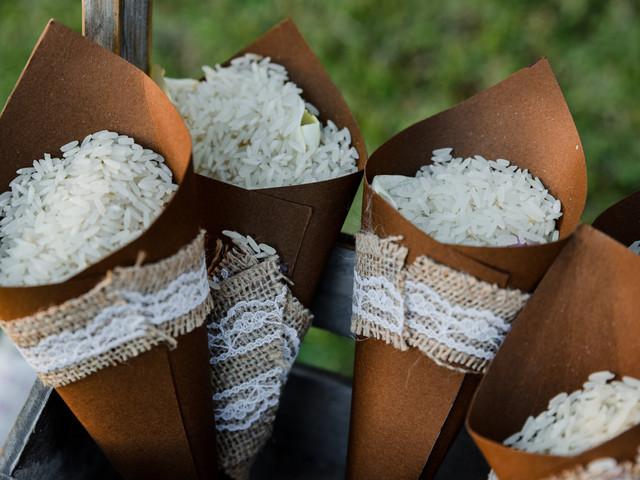 Paso a paso: conos para el arroz DIY