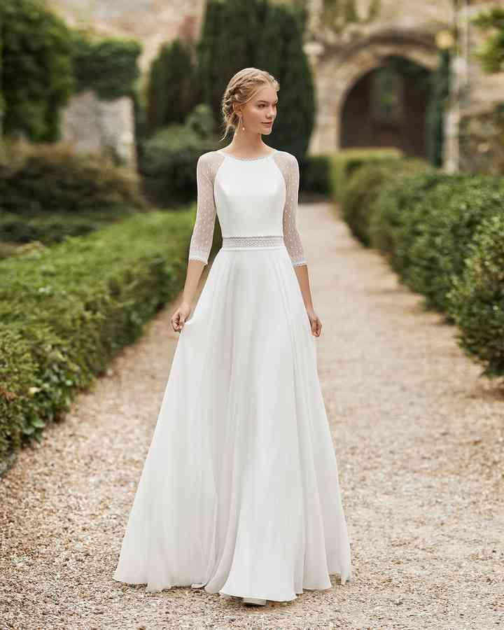 Vestido de novia corte en A