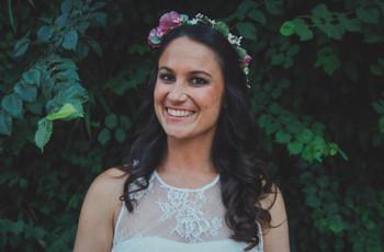 Peinados de novia con flores: 5 estilos