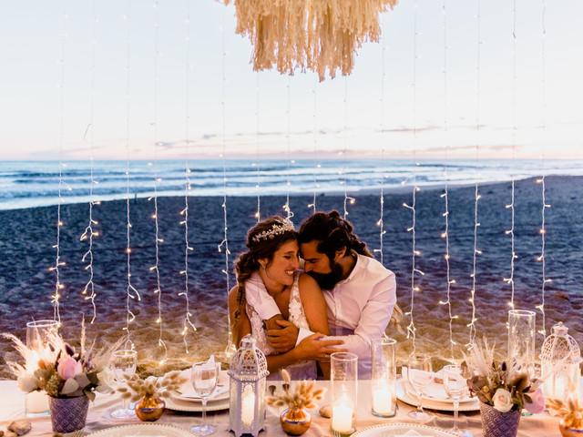 6 ideas para decorar el fondo de la mesa principal del casamiento