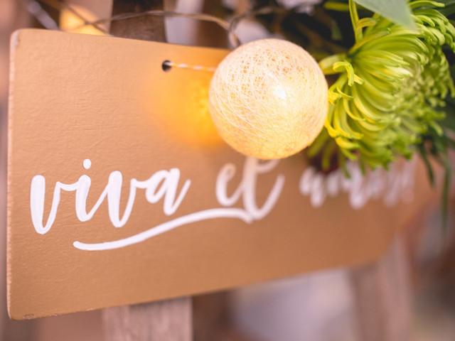 30 frases para decorar rincones de su casamiento