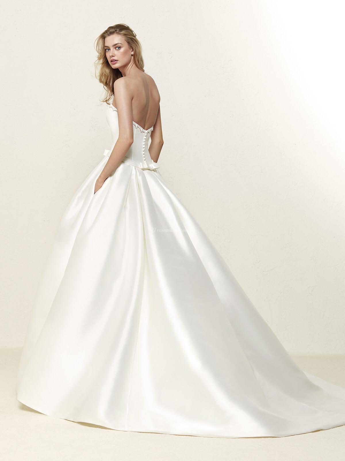 Vestido novia barcaza pronovias