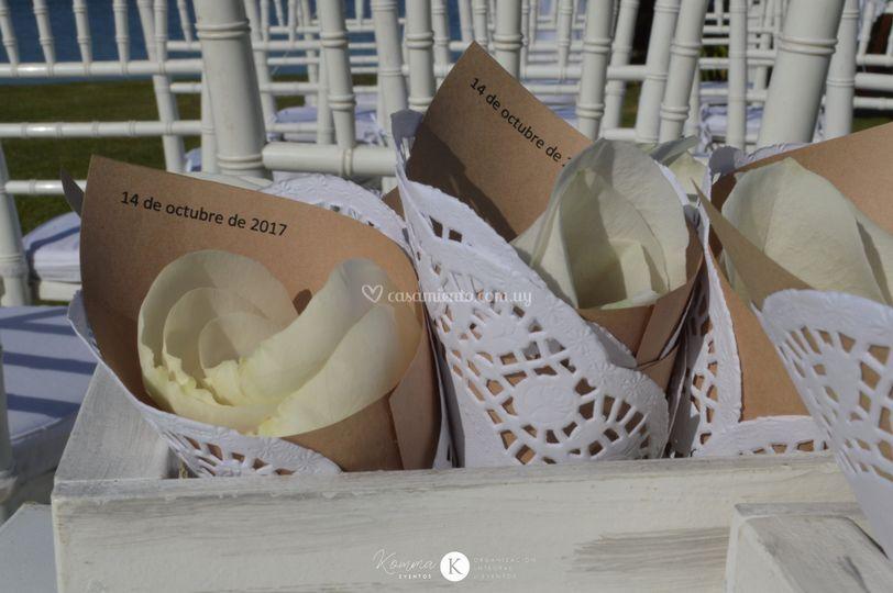 Pétalos para la novia
