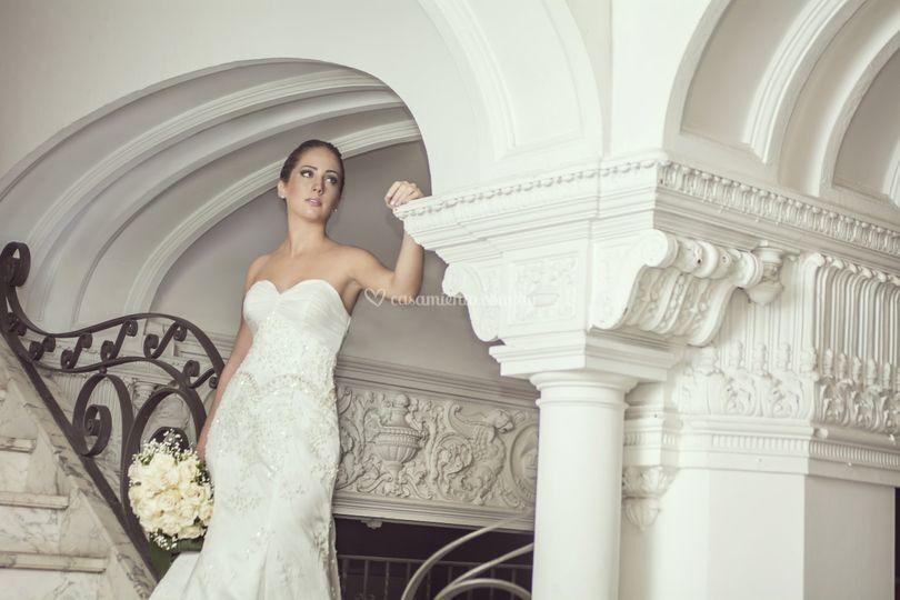 Vestido de novia tul bordado