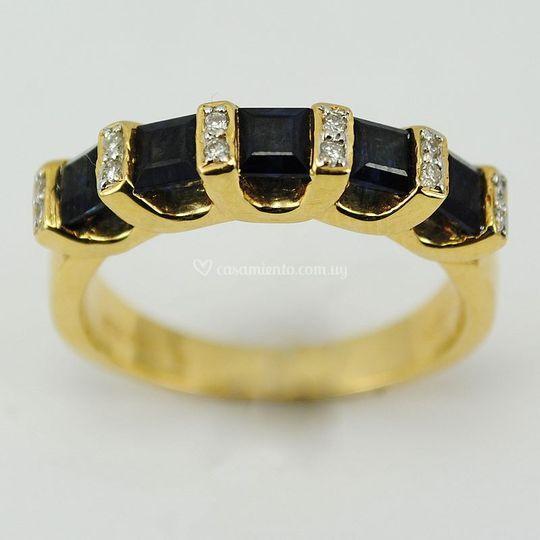 480efa9431c3 Oro con brillantes y zafiro Modelos exclusivos