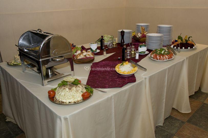 Mesa de ensaladas