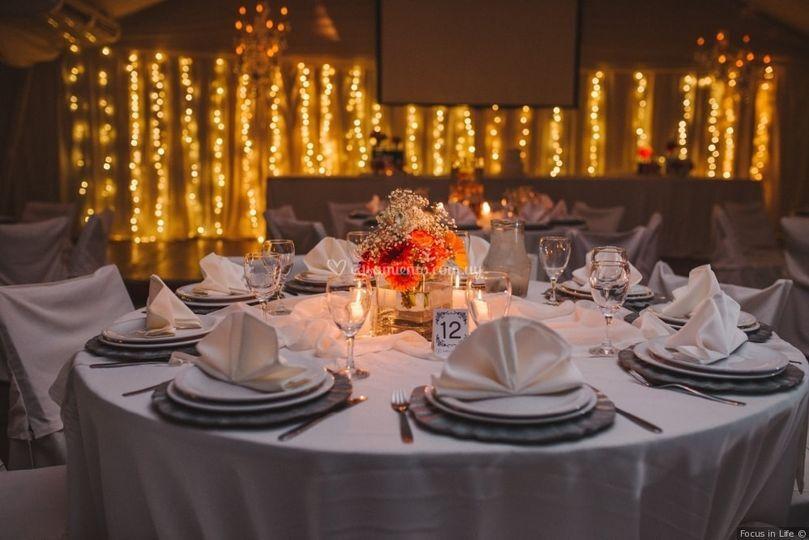 Una decoración de boda
