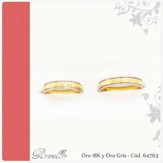 Oro18k amarillo y gris 64763