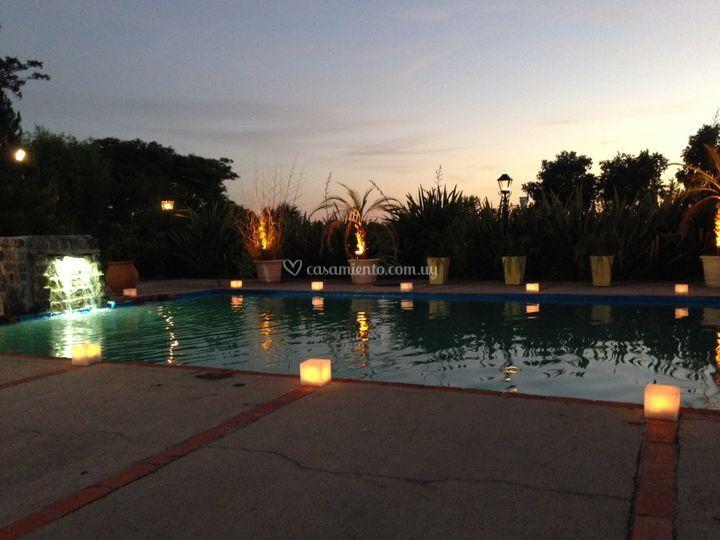 Cascada de piscina