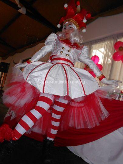 Arlequines de Gala Rojo Blanco