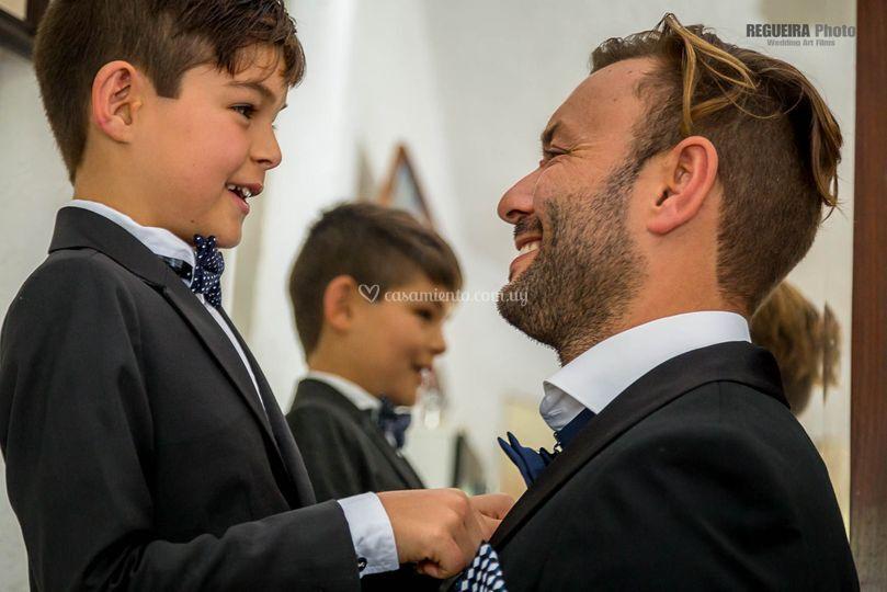 Padre e hijo prontos