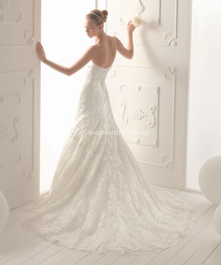 Vestido de novia de enacaje