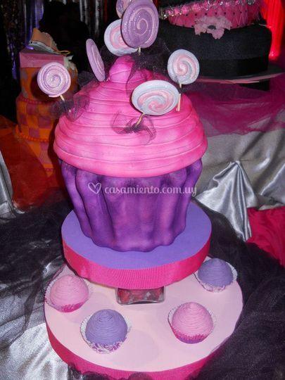 En forma de cupcake