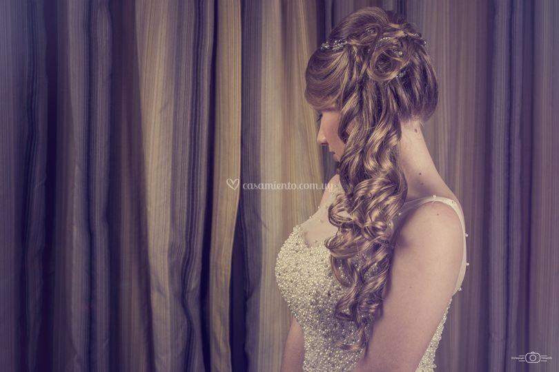 Peinado semirrecogido