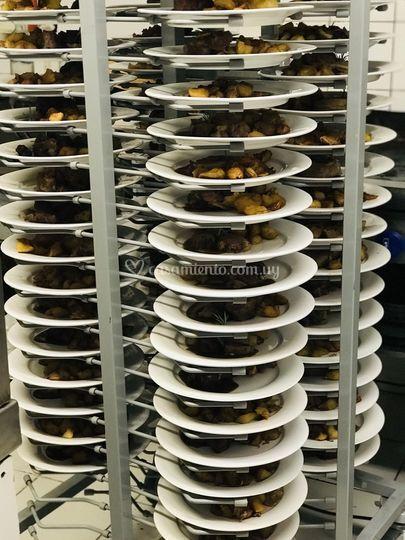 350 platos al mismo tiempo