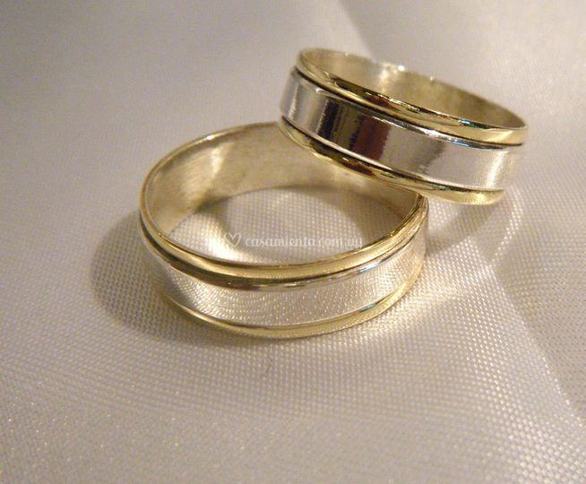 Cinta 5 mm plata y oro