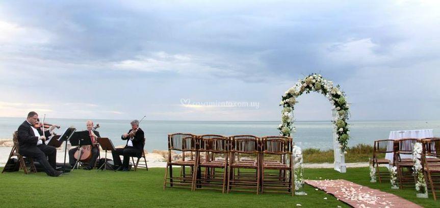En casamientos al aire libre
