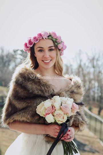 Jessica el día de su boda