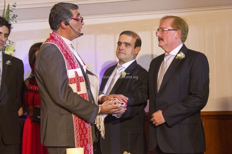 En su boda