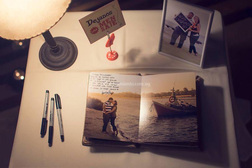 Libro de firmas fotos preboda