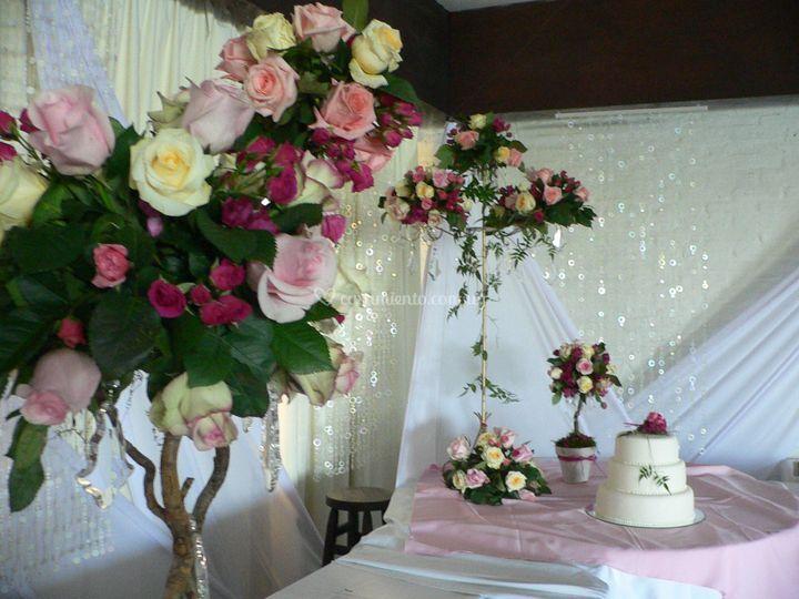 Rosas para el catering