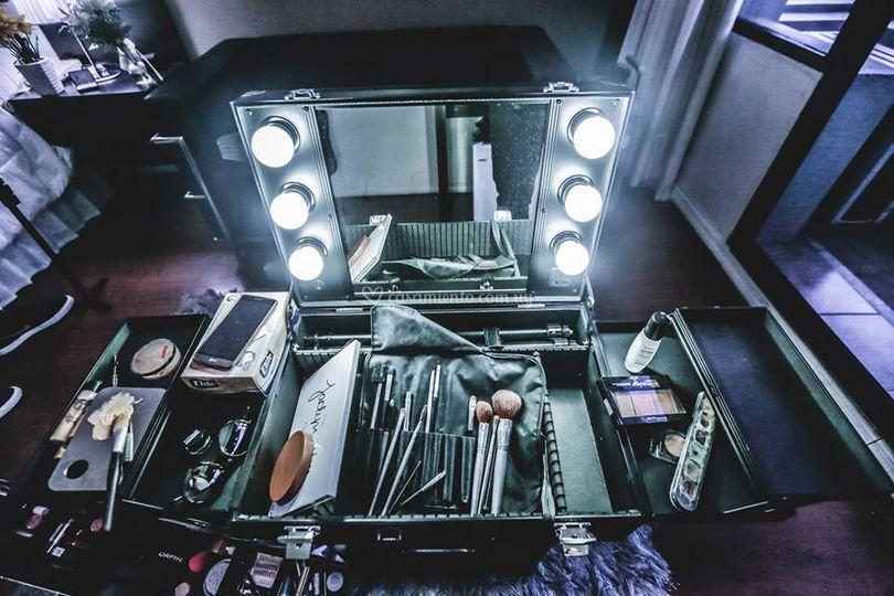 Nuestro camerino de maquillaje