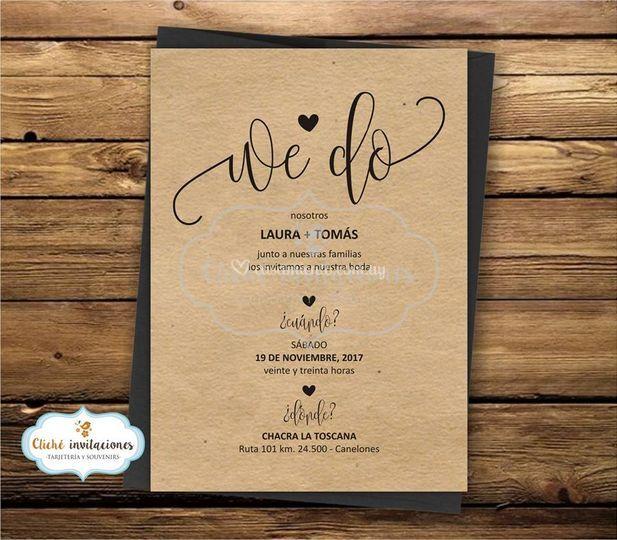 """Invitación boda """"We do"""""""