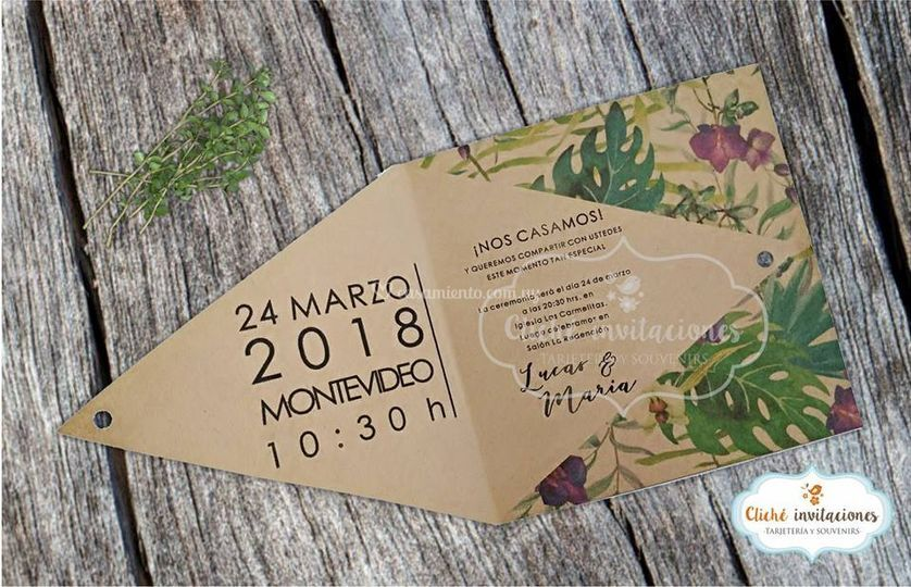 "Invitación ""Kraft triangular"""