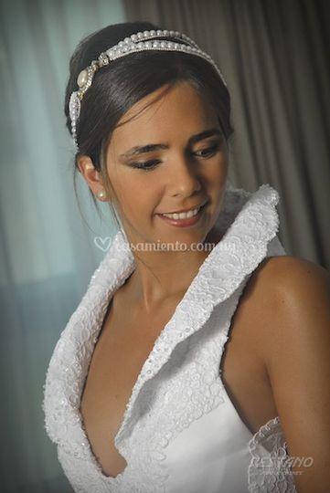 Tiara clasica de perlas