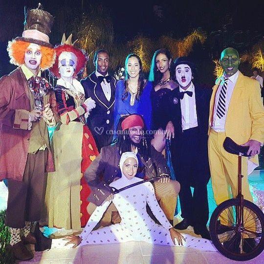 Personajes para fiestas