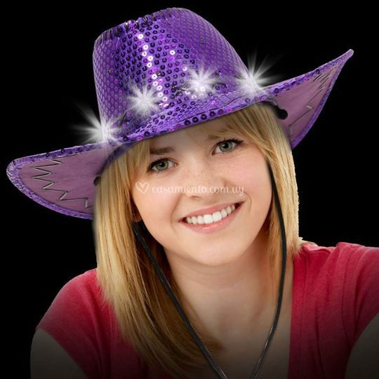 Sombrero cowgirl luminoso