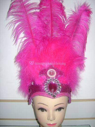 Corona con plumas