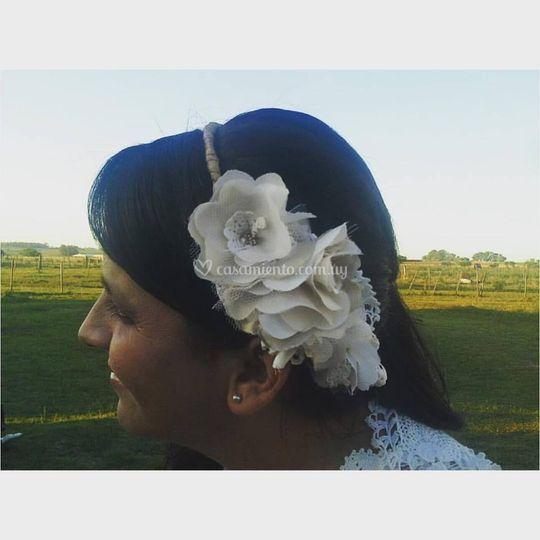Flores textiles+bordado