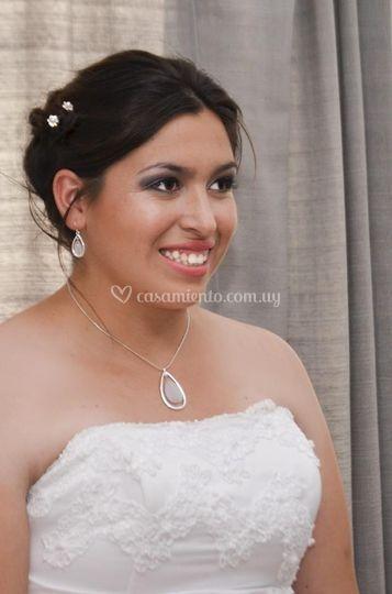 Maquillaje novia jugado