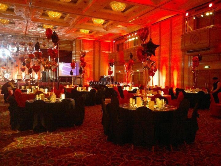 Ballroom en rojo y negro