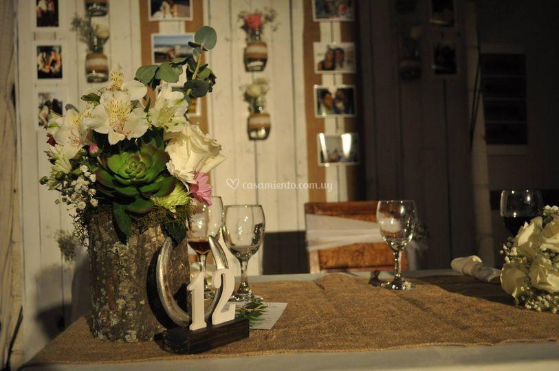Mesa de novios boda rustica
