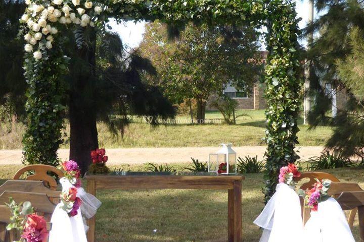 Altar y flores