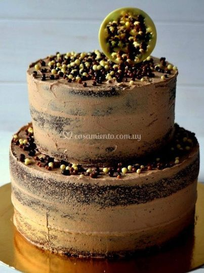 Nude cake de chocolate