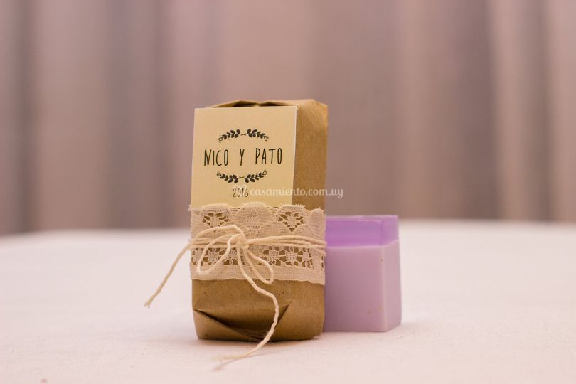 Jabón - presentación rústica