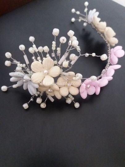 Porcelana con perlas