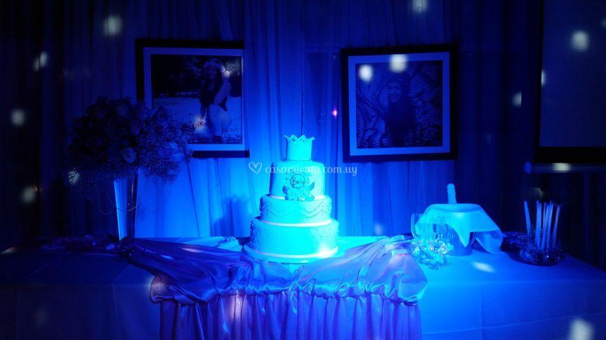 Mesa de la torta 15 años