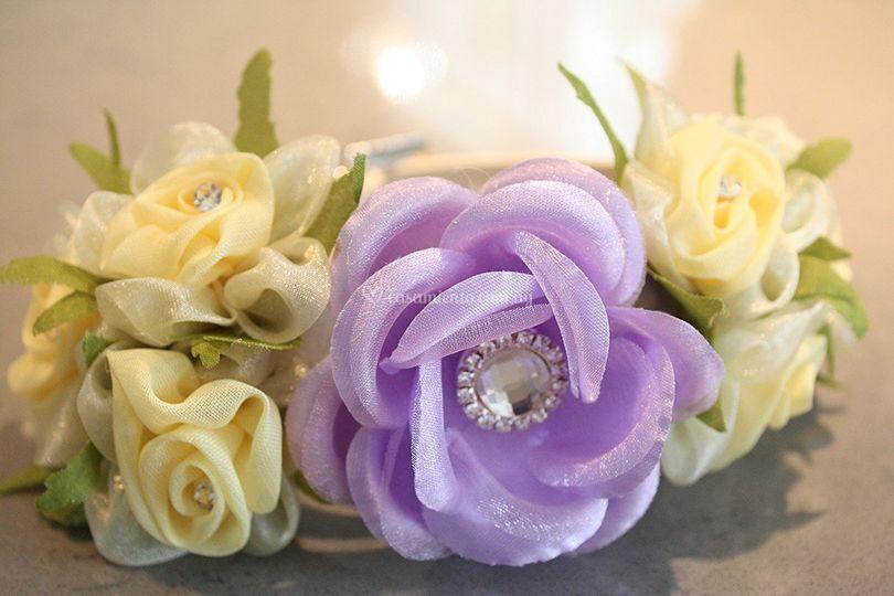 Collar floral lila