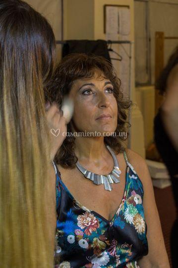 Maquillaje a Carmen Morán
