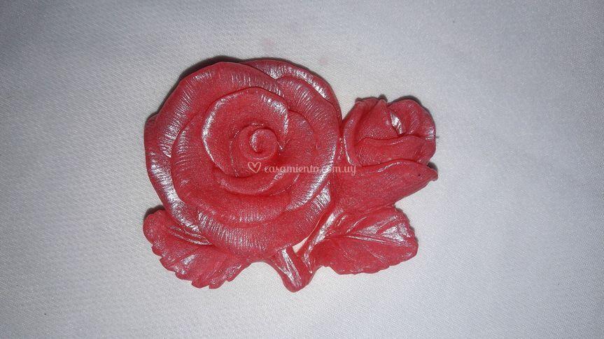 Jabón grande en forma de rosa
