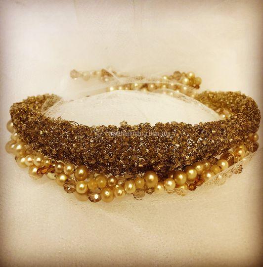 Hilos oro y perlas antiguas
