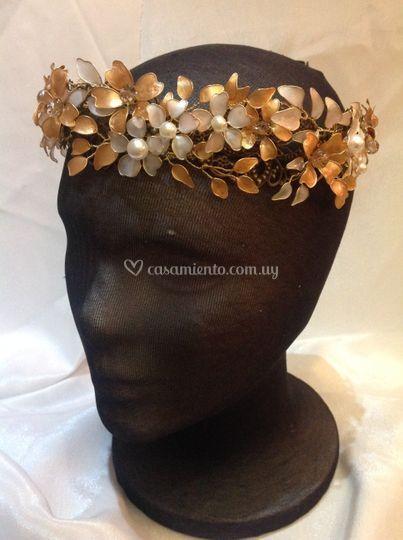 Flores nácar y perlas
